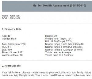 Self Health Assessment-Report