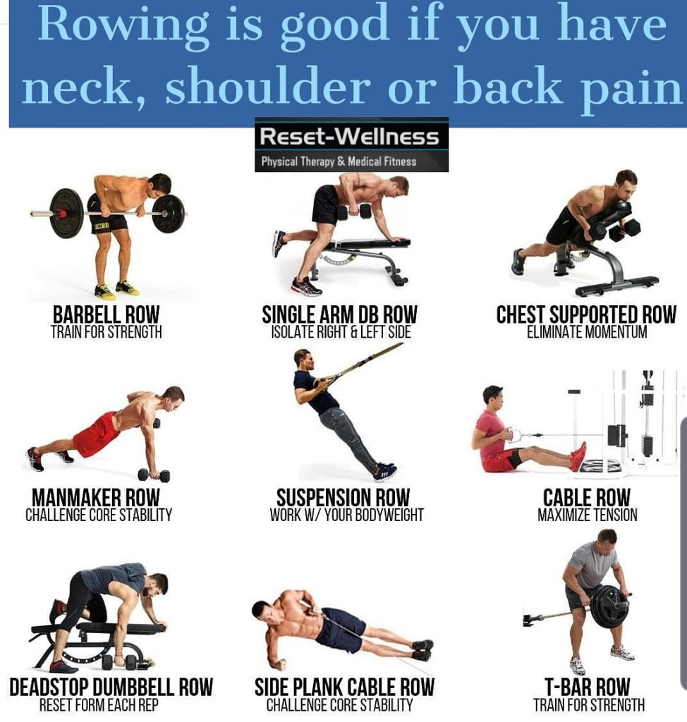 Rowing for back, neck and shoulder pain | Reset-Wellness